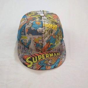 Superman DC Comics Hat Baseball Cap Flat Bill Cap